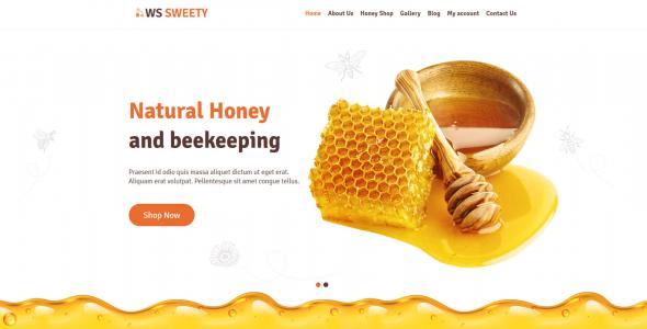 WS Sweety – Eye catching Honey WordPress theme